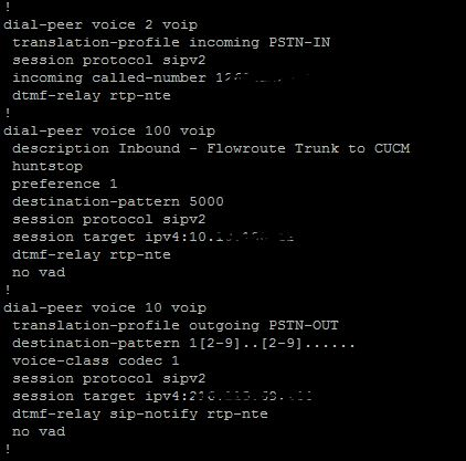 Configuration Example: Cisco CUBE with FlowRoute – Justin On VOIP